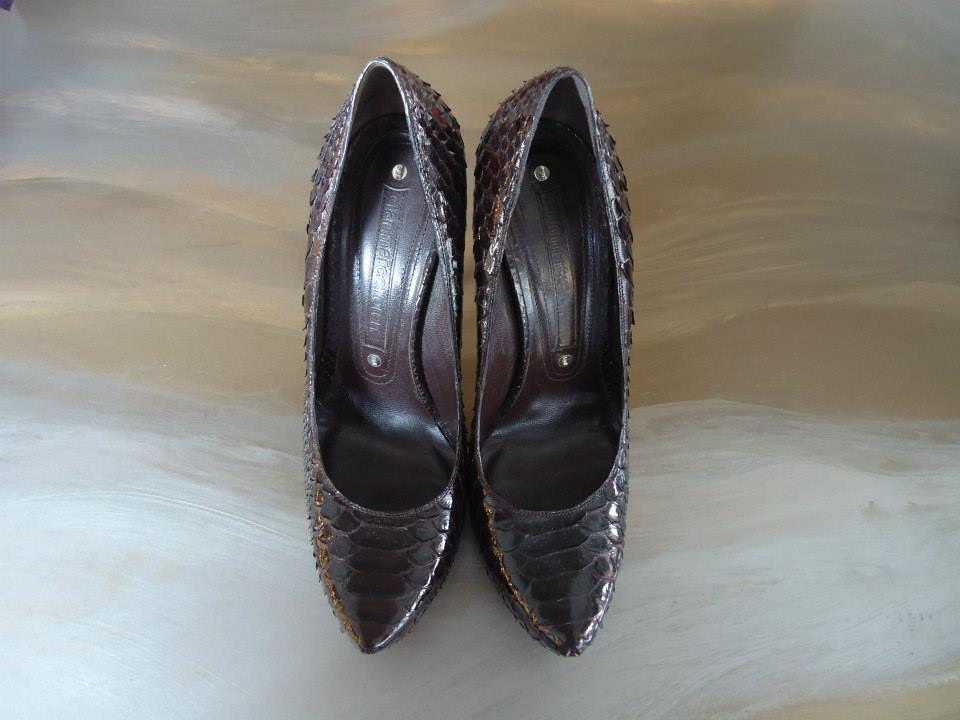 Gianmarco Lorenzi Brown Python Leather Décolleté Size 39 (It) 2