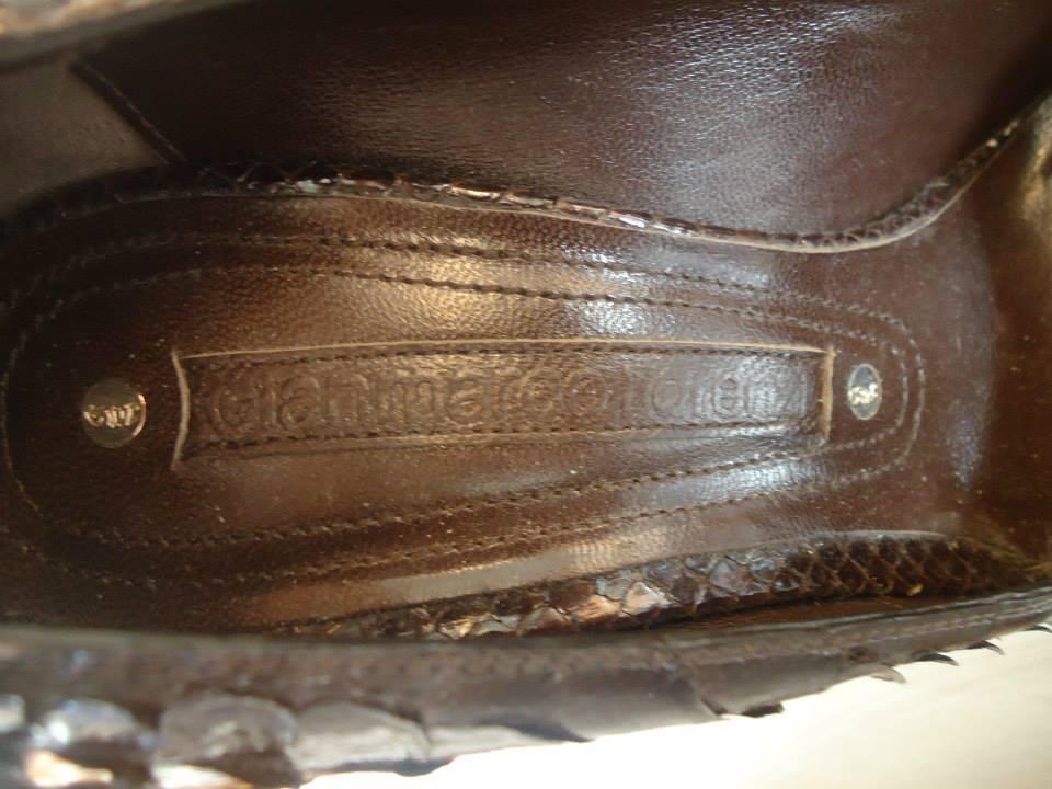 Gianmarco Lorenzi Brown Python Leather Décolleté Size 39 (It) 5
