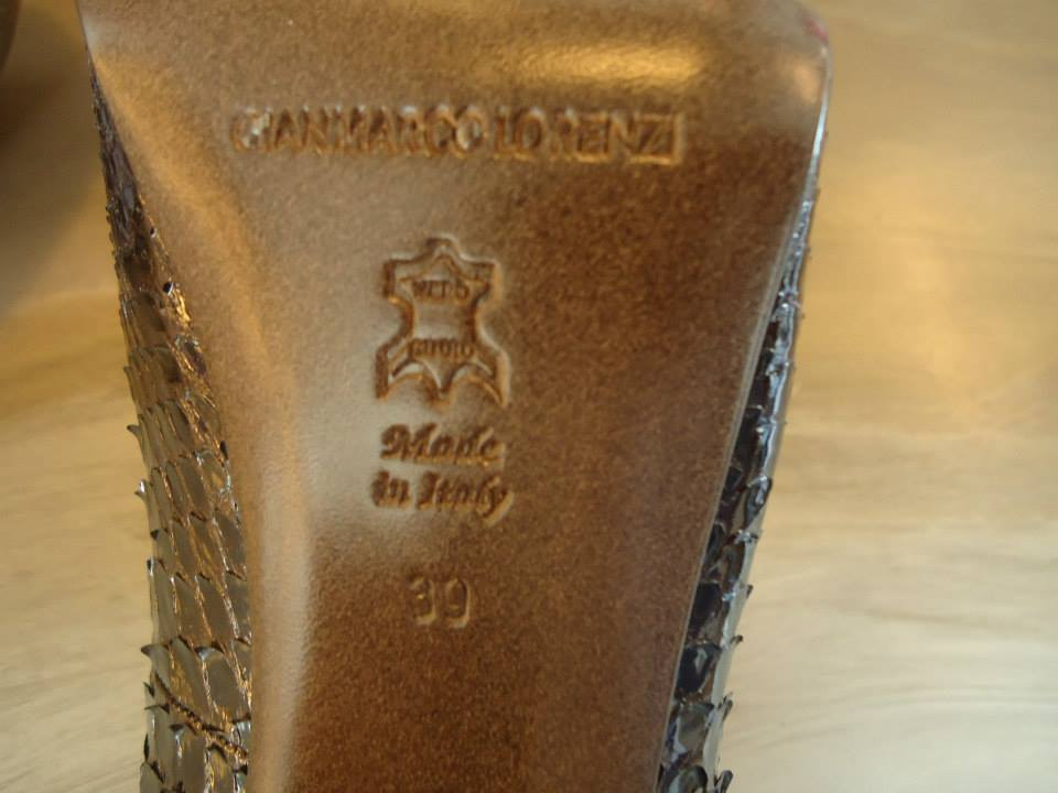 Gianmarco Lorenzi Brown Python Leather Décolleté Size 39 (It) 6