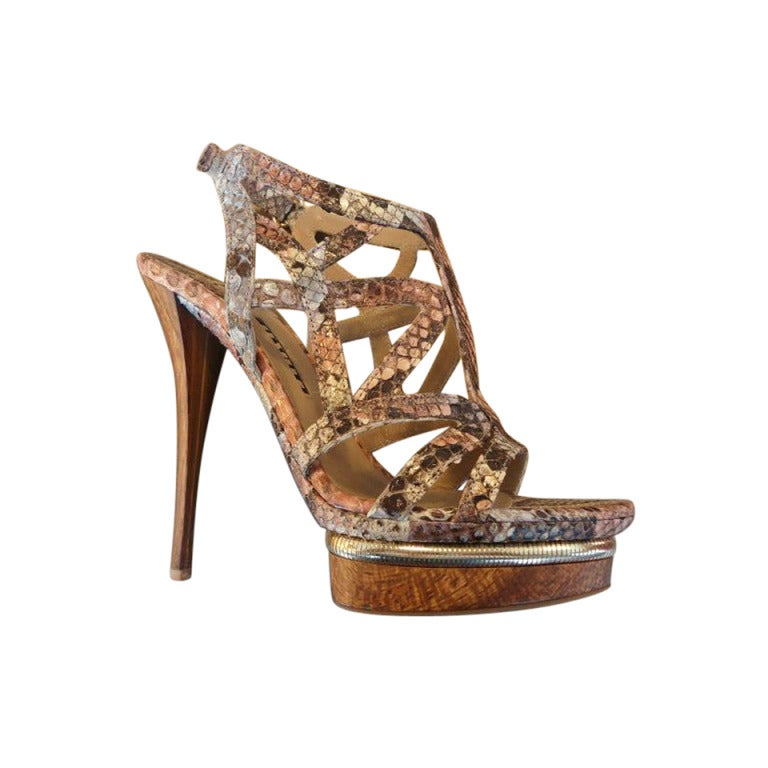 Le Silla Reptile High Sandal Size 38,5 (IT) 1