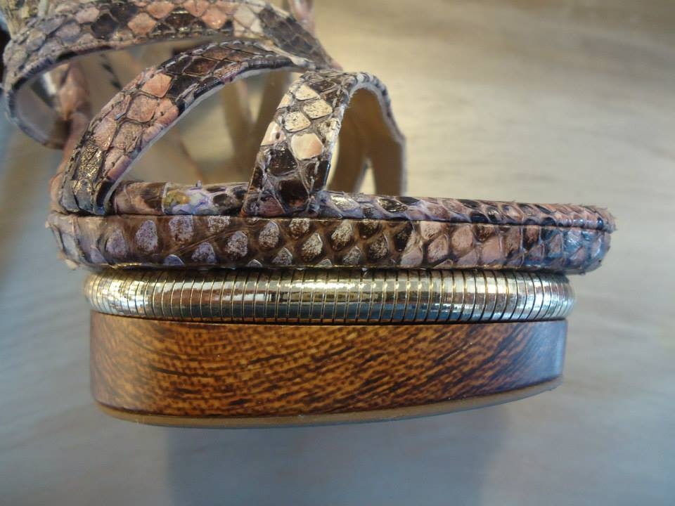 Le Silla Reptile High Sandal Size 38,5 (IT) 5