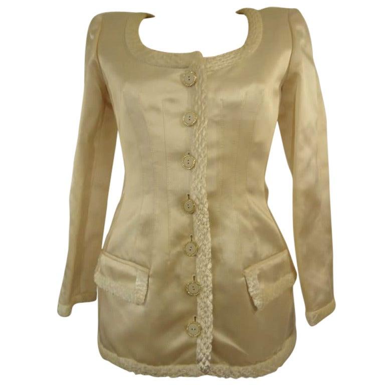 Valentino Boutique Ivory Silk Jacket