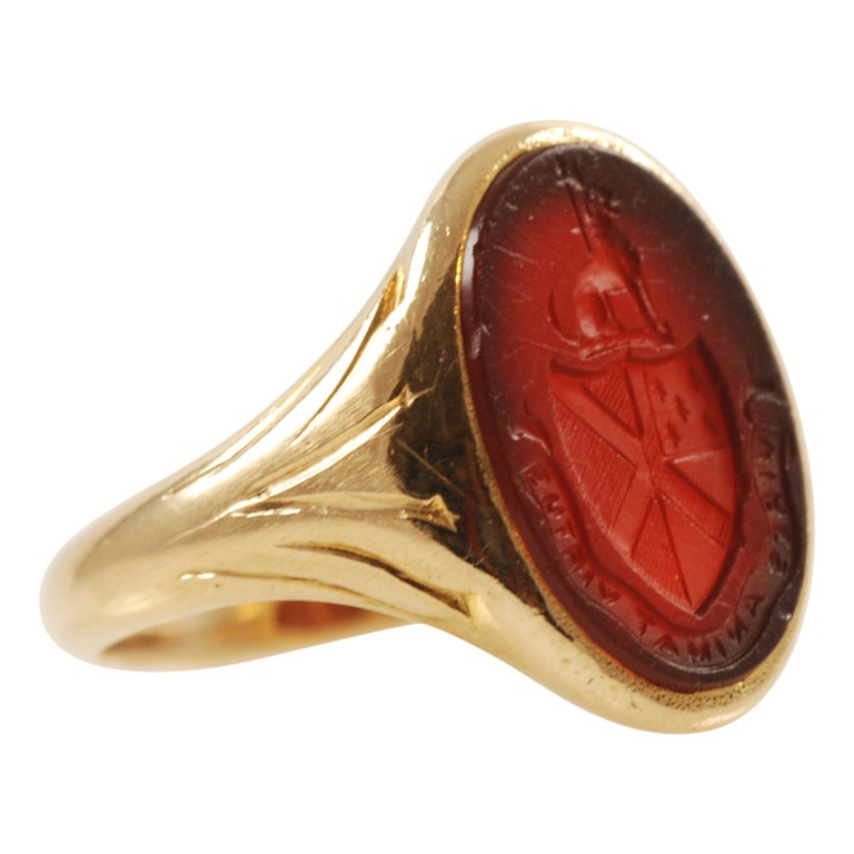 antique and co carnelian gold signet ring at 1stdibs