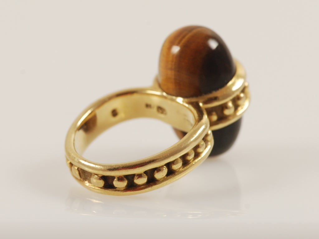 gubelin gold and tiger eye ring c 1970 s for sale at 1stdibs