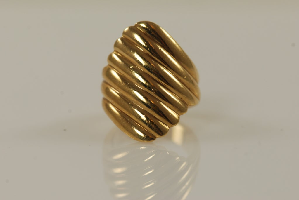 cleef and arpels gold cigar band ring at 1stdibs