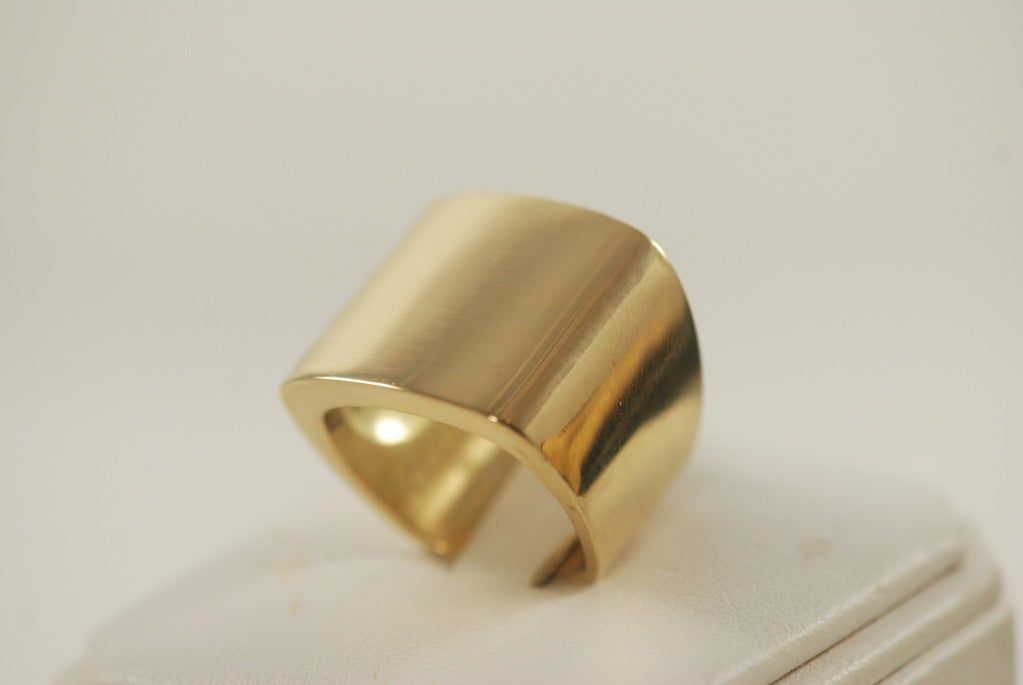 modernist heavy gold ring at 1stdibs