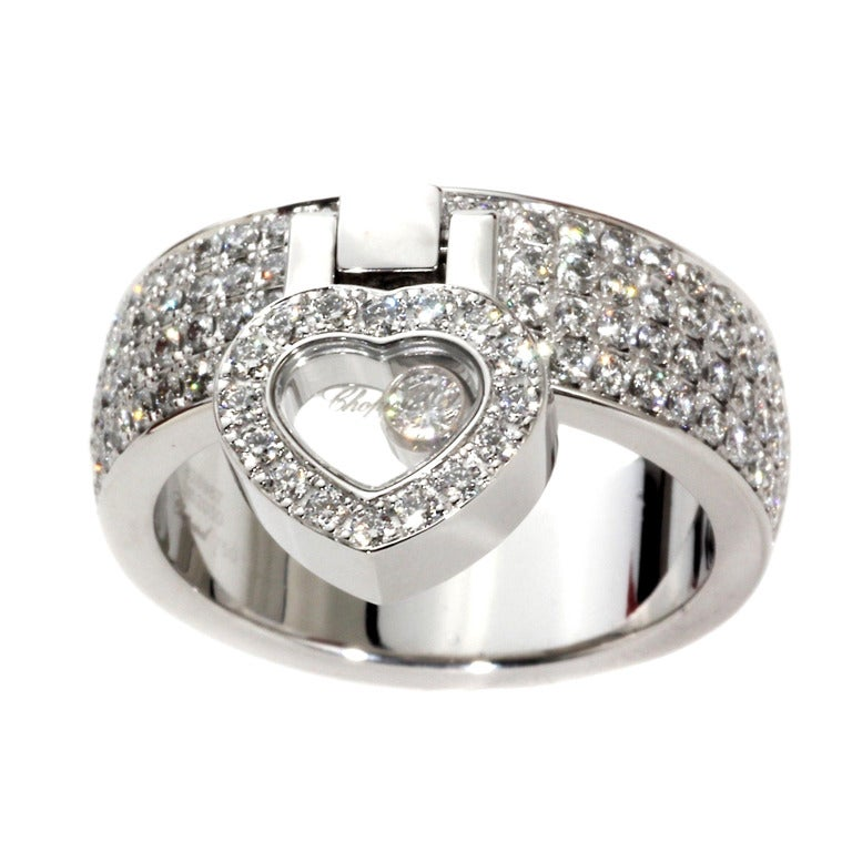 chopard happy white gold ring at 1stdibs