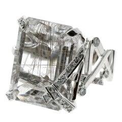 Chanel Diamond and Rutilated Quartz Ring