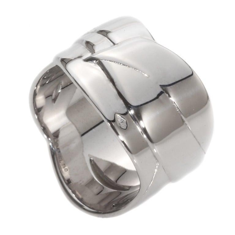 Chanel Diamond Gold Bolduc Ring 4