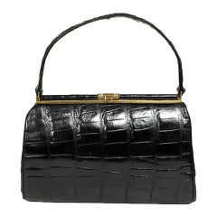 Bellestone Black Alligator Handbag