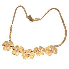 Buccellati five viola flower necklace