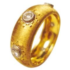 Buccellati Gold and Diamond Ring 6.5