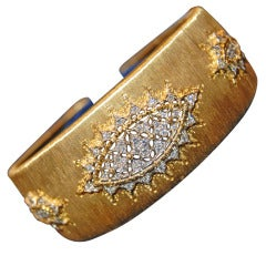 Mario Buccellati Diamond Cuff Bracelet