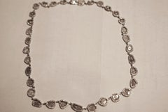 Diamond Slice Necklace with Pave