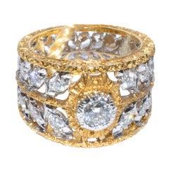 Mario Buccellati Gold and Diamond ring sz 6.5