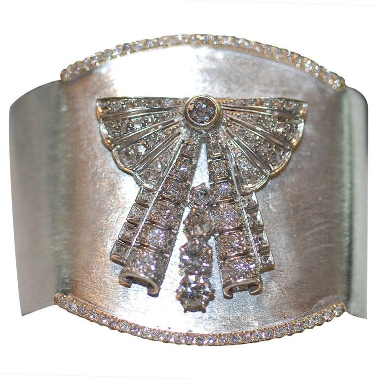 Fabulous Modern Diamond Cuff
