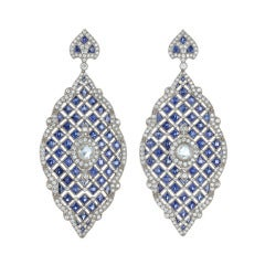 Kwiat Vintage Collection Diamond and Sapphire Earrings