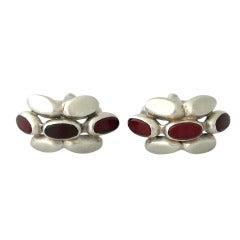 Exceedingly Rare Antonio Pineda Taxco .970 Silver Modernist Cufflinks