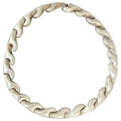 Antonio Pineda .970 Silver Choker Necklace