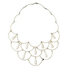 Antonio Pineda .980 Silver Modernist Necklace