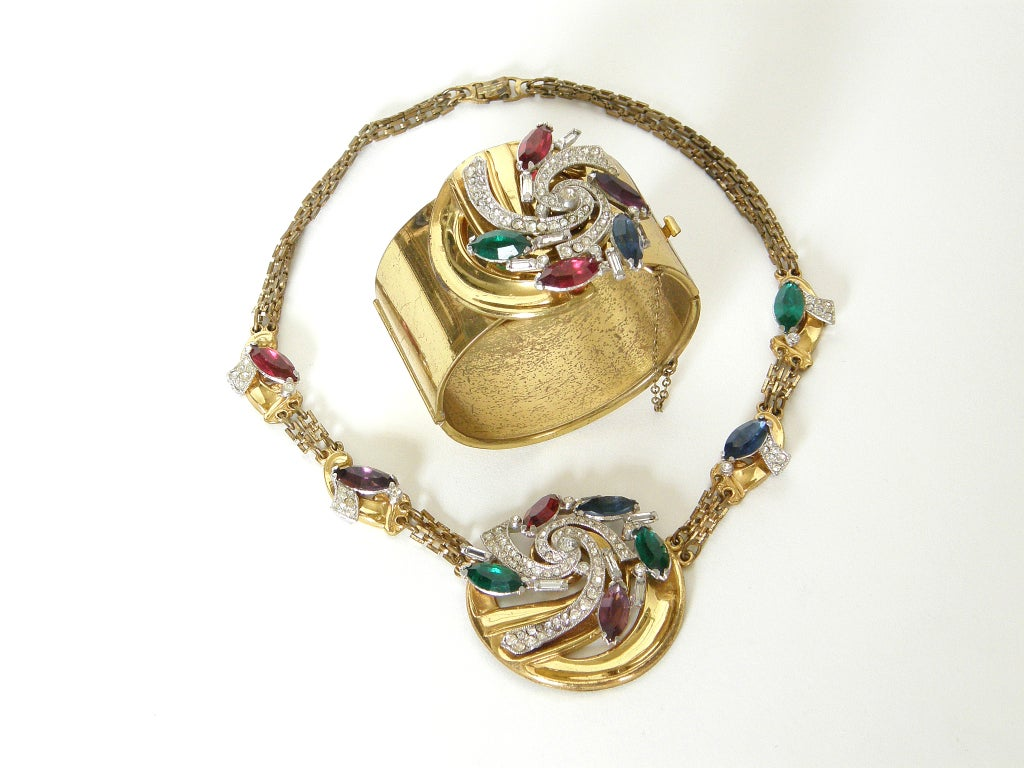 McClelland Barclay Art Deco Necklace and Bracelet Set 2