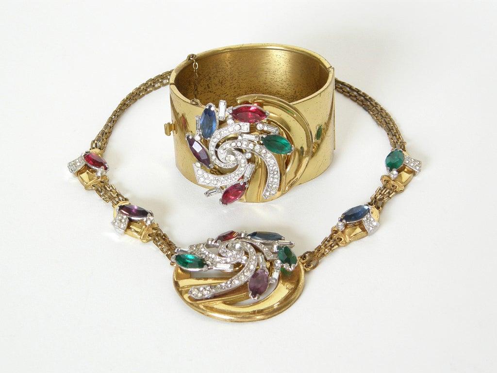 McClelland Barclay Art Deco Necklace and Bracelet Set 3