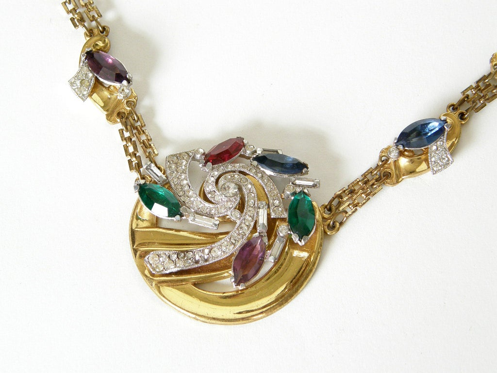 McClelland Barclay Art Deco Necklace and Bracelet Set 6