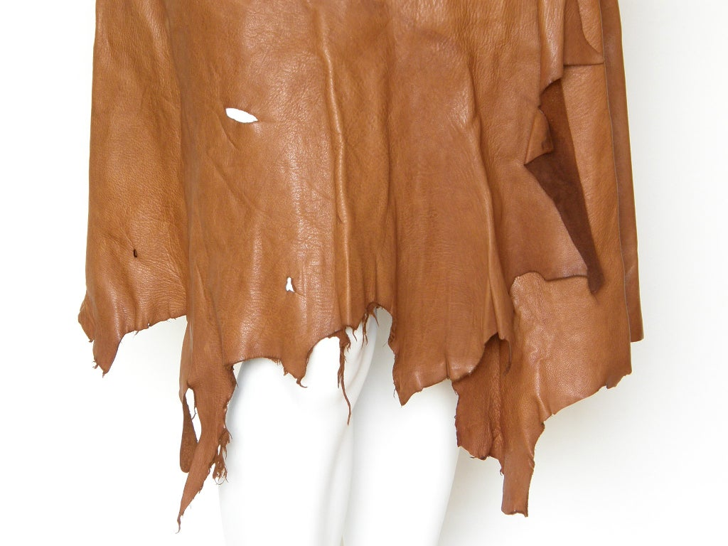 Hand Painted Leather Skirt For Sale 3