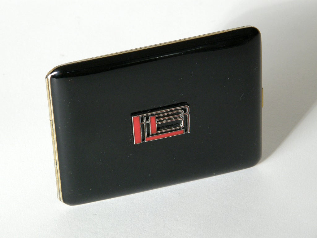 French Art Deco Black Lacquer Cigarette Case In Good Condition For Sale In Chicago, IL