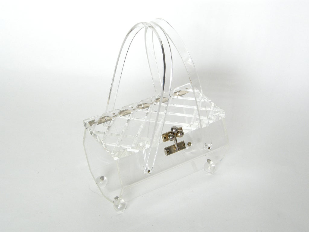 Clear Lucite Box Bag For Sale At 1stdibs