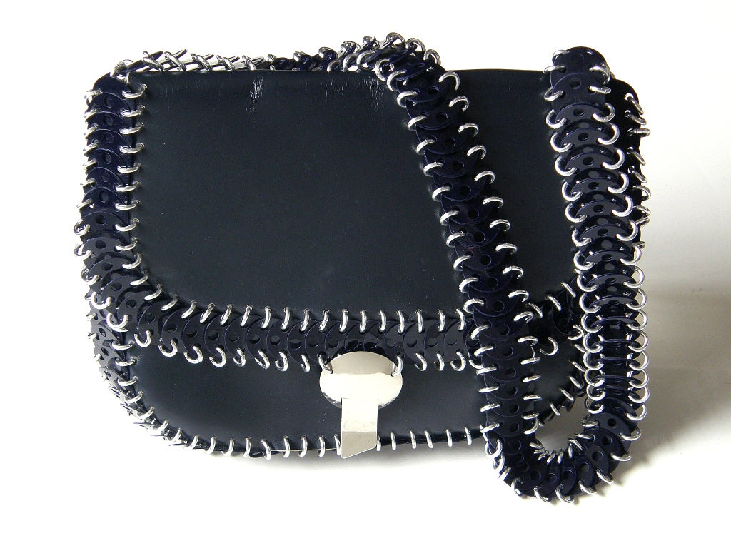 Black Paco Rabanne Shoulder Bag For Sale