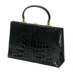 Rosenfeld Black Alligator Handbag