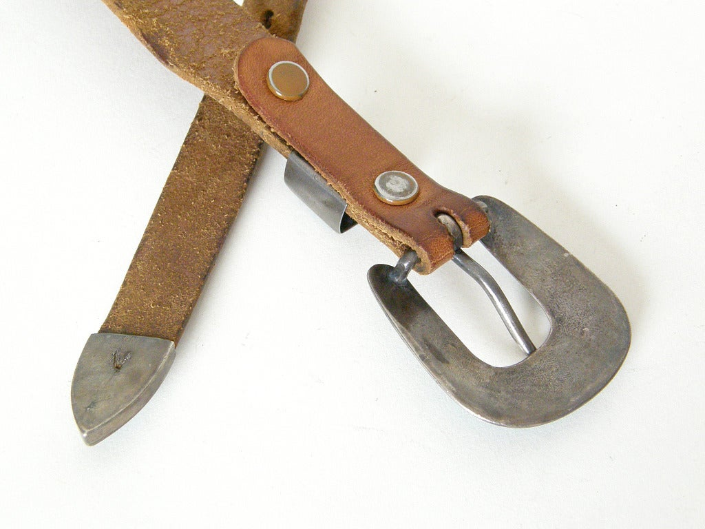 Tooled Leather Ranger Belt 5