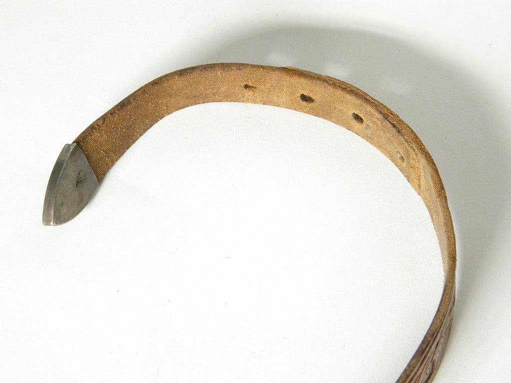 Tooled Leather Ranger Belt 8