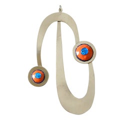Pierre Cardin Space Age Pendant with Enameled Accents