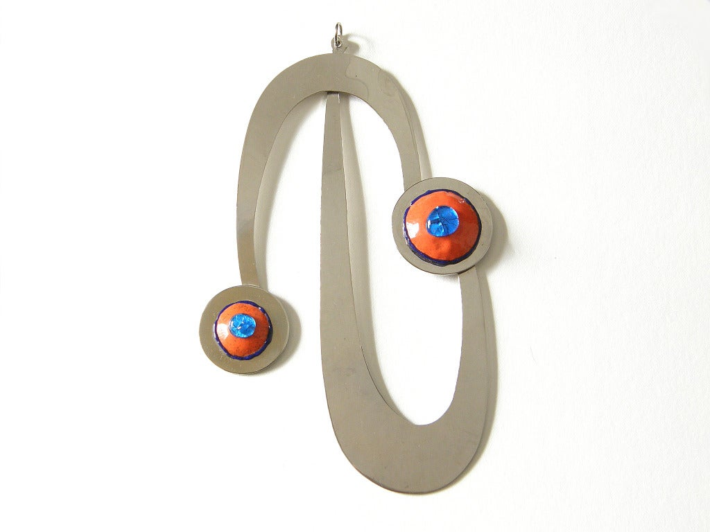 Pierre cardin pendant for sale at 1stdibs fantastic space age pendant with unusual enamelwork by pierre cardin i believe this handmade biocorpaavc Choice Image