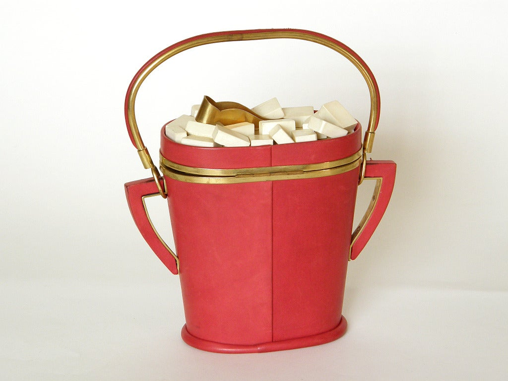 Red Anne-Marie Sugar Bowl Handbag For Sale