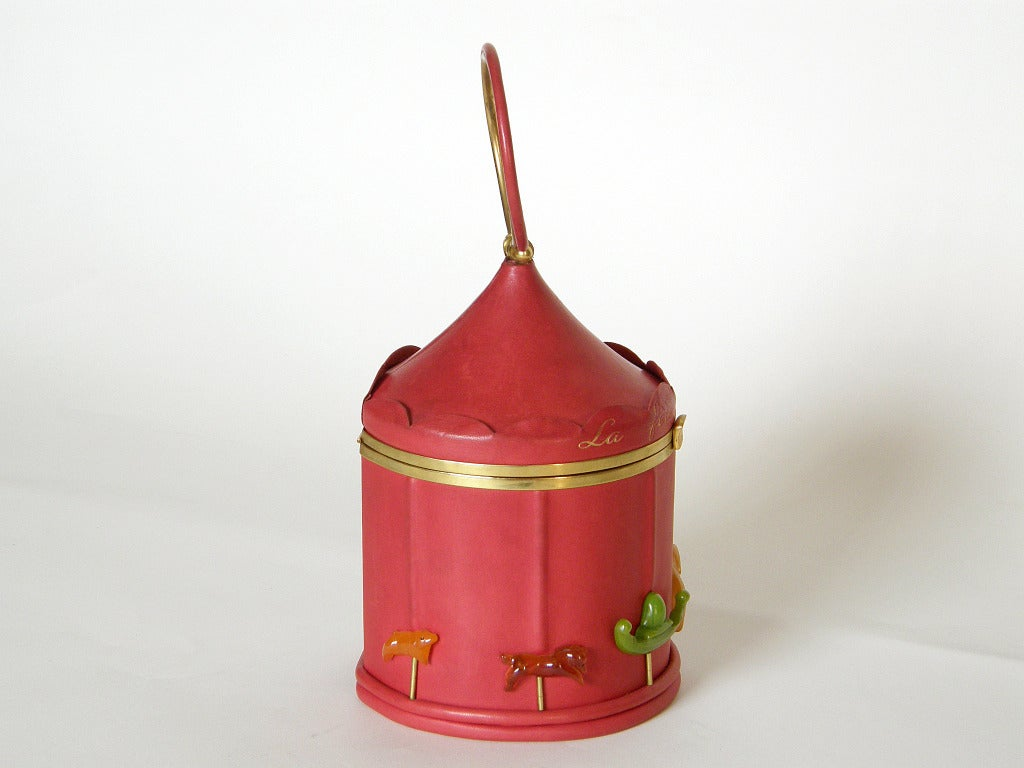 Brown Anne-Marie Carousel Handbag For Sale