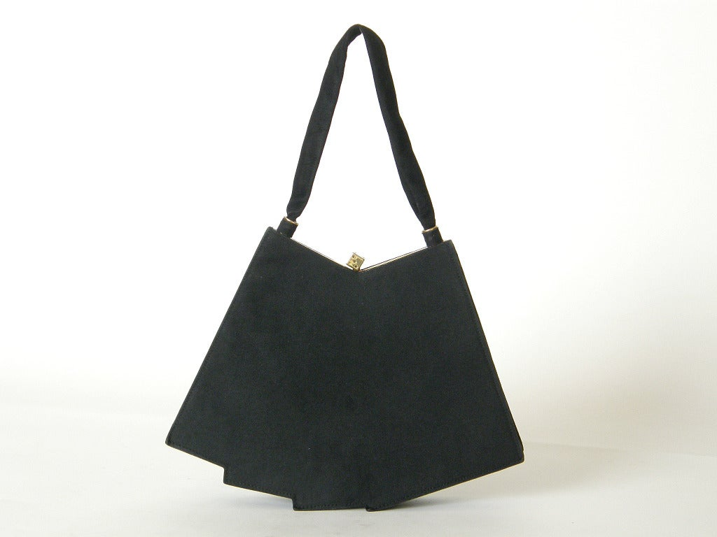 Black Anne-Marie Hand of Cards Handbag For Sale