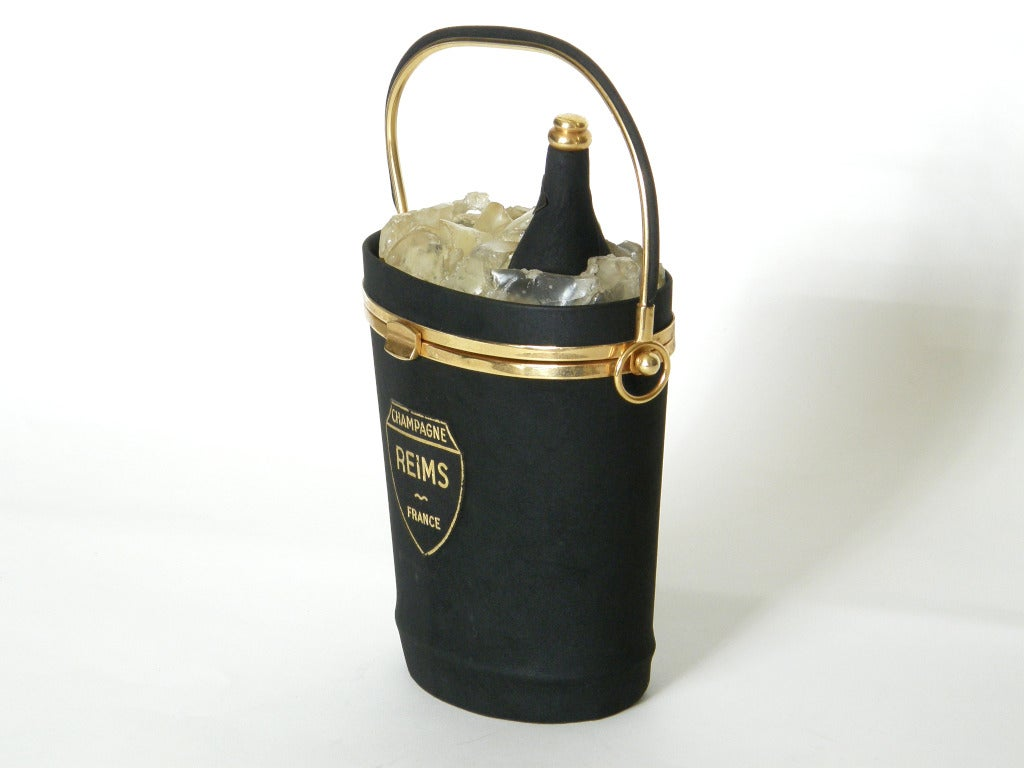 Anne-Marie Champagne Bucket Handbag For Sale 1