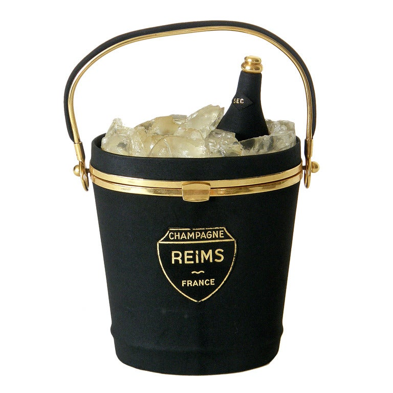Anne-Marie Champagne Bucket Handbag For Sale