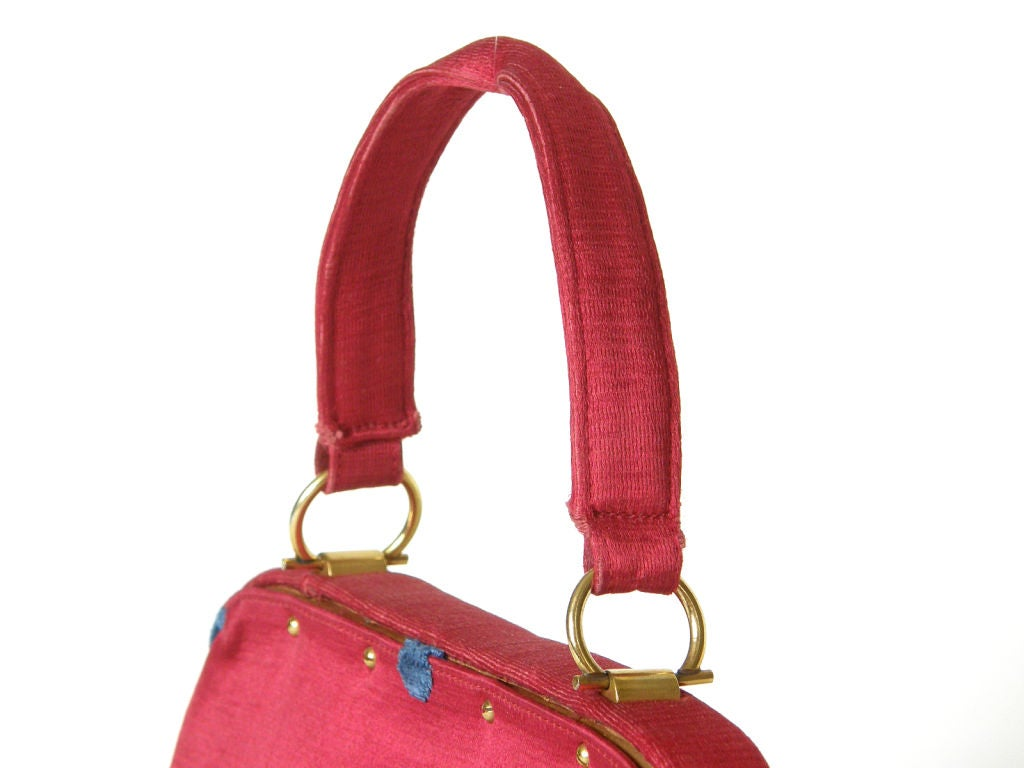 Pink Fuchsia Roberta di Camerino Handbag For Sale