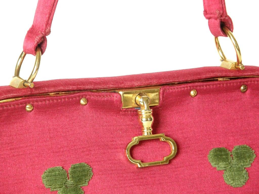 Fuchsia Roberta di Camerino Handbag In Good Condition For Sale In Chicago, IL