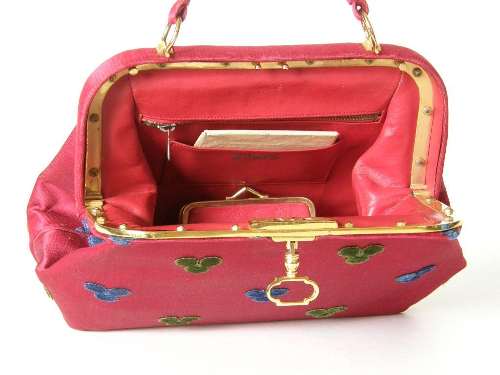 Women's Fuchsia Roberta di Camerino Handbag For Sale