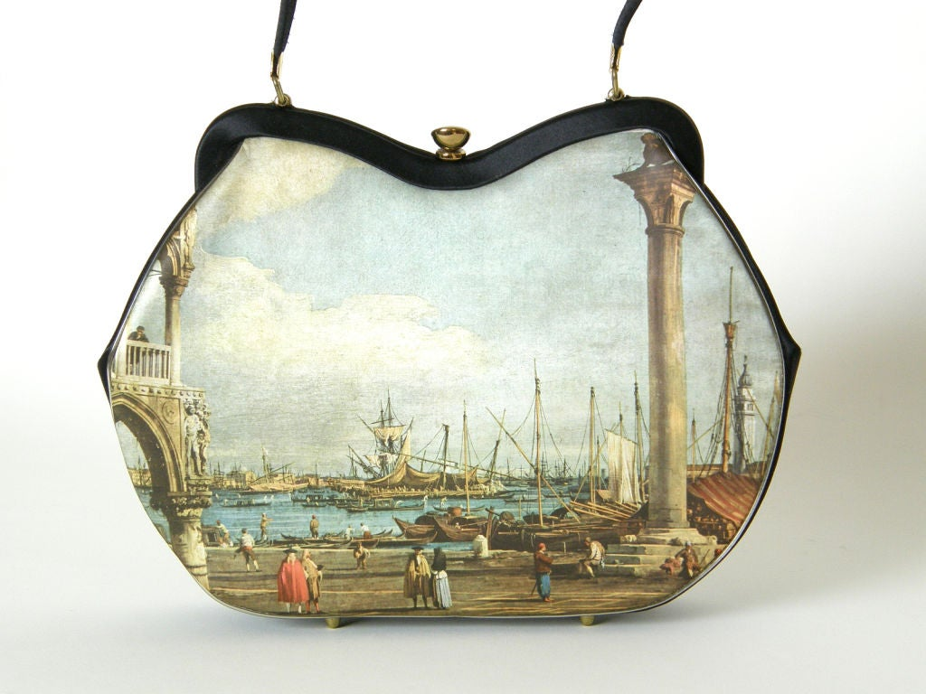 Printed Silk Handbag 3