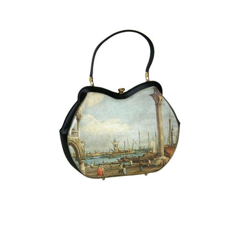 Printed Silk Handbag 1