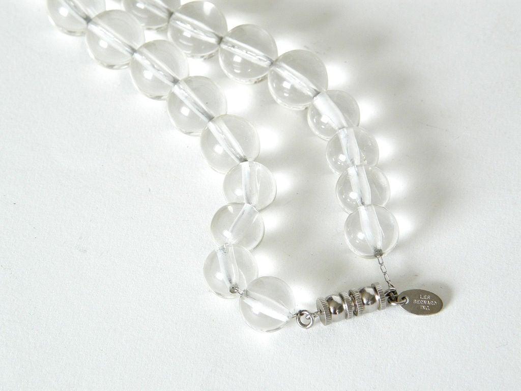 Modernist Les Bernard Lucite Beads Necklace For Sale