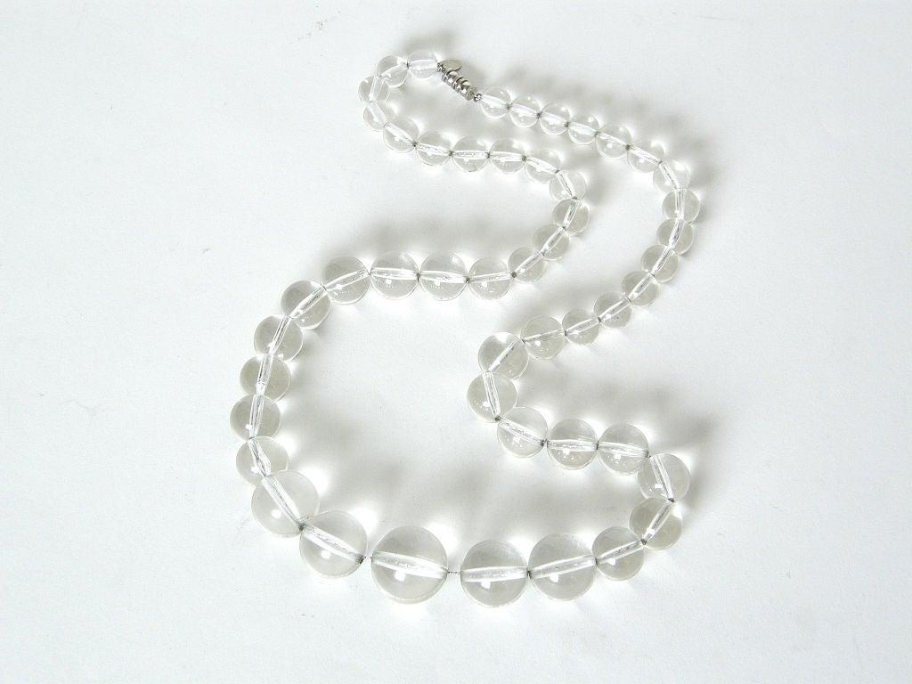 Les Bernard Lucite Beads Necklace For Sale 1