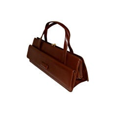 Sleek Double Demi Handle Dr. Bag Purse Handbag