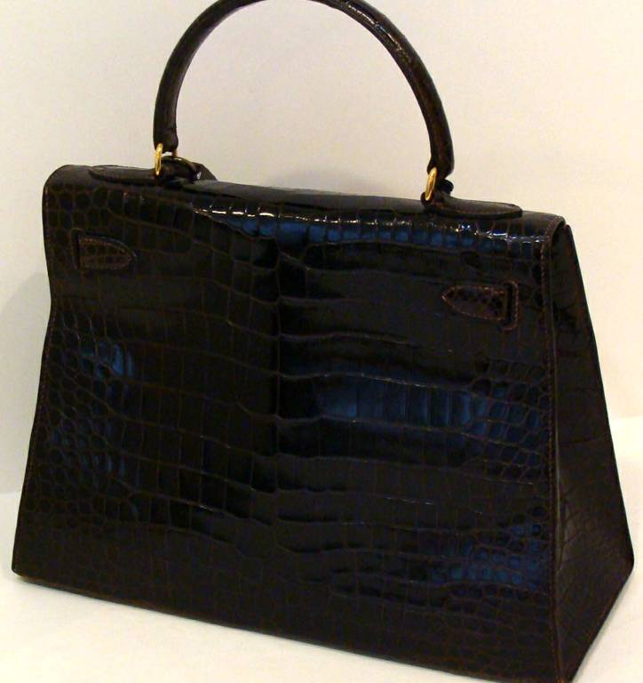 Hermes Crocodile Kelly Bag Handbag at 1stdibs